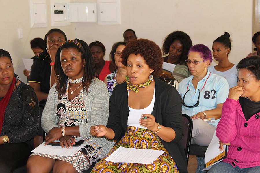 Women in Gobabis sharing their information needs during the ATI women's workshop in Okahandja on 29 June 2018
