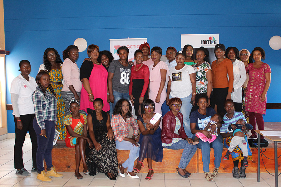 Women in Rundu after the Access to information information session at Rundu Recreation Centre