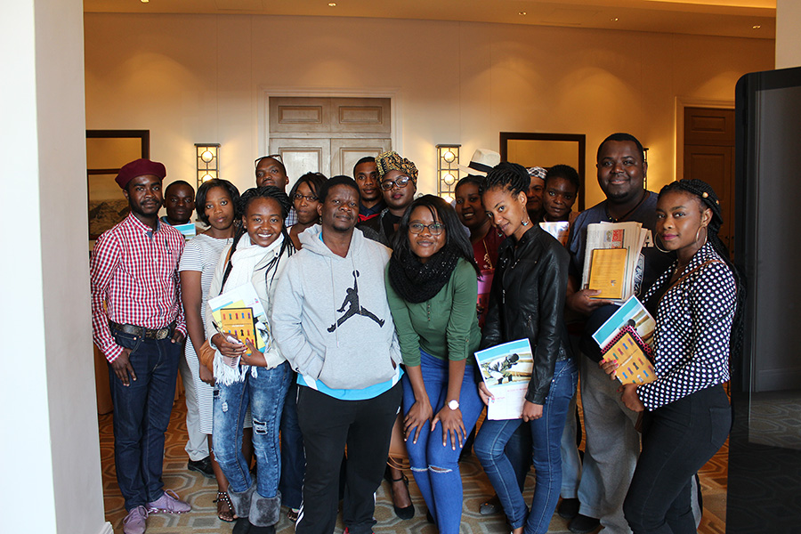 Youth posing for a picture after the the ATI youth workshop in Swakopmund on 22 June 2018